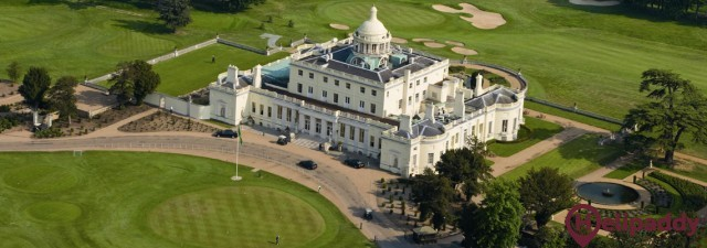 Stoke Park by helicopter