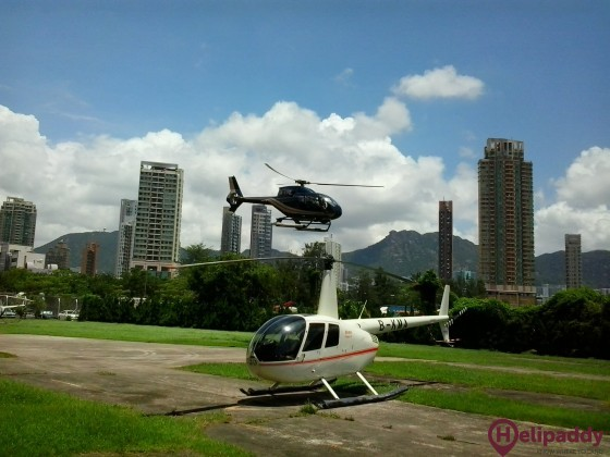 Hong Kong Aviation Club by helicopter