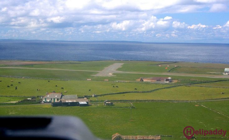 Flotta  by helicopter