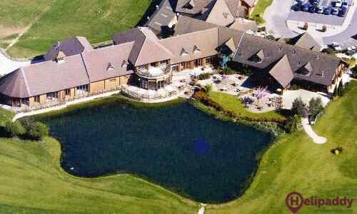 Witney Lakes Resort by helicopter