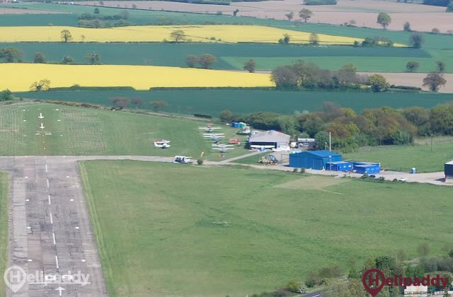 Beccles Airfield by helicopter