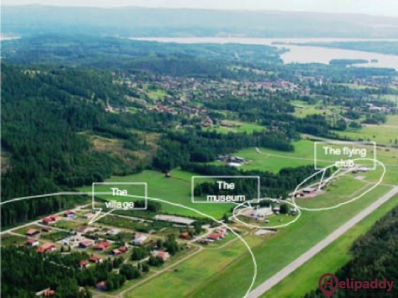 Siljan Airpark  by helicopter