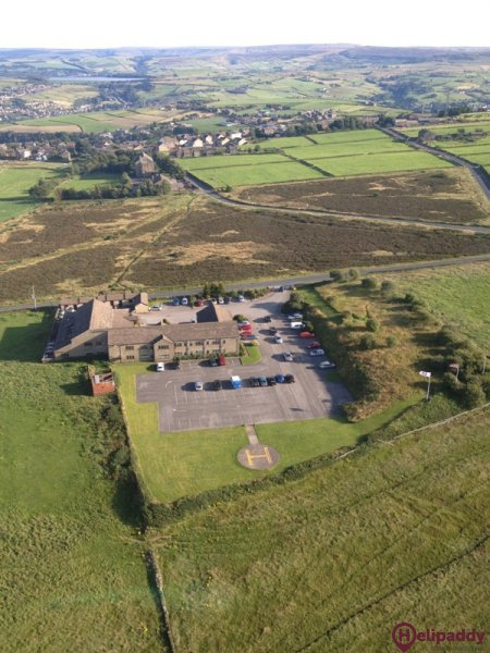 Pennine Manor Hotel by helicopter