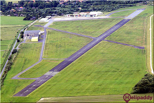 Jadeweser Airport by helicopter