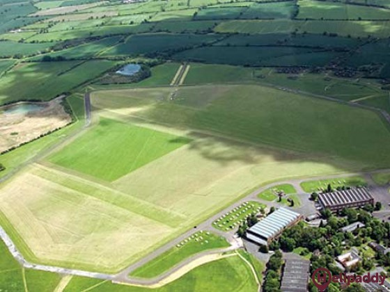 Bicester Gliding by helicopter