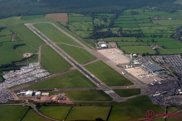 Bristol Airport by helicopter