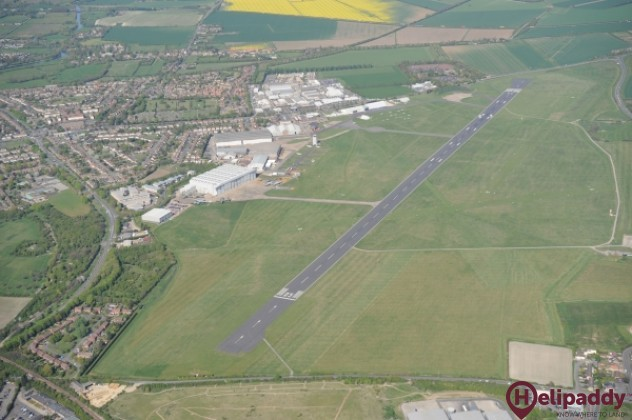 Cambridge Airport by helicopter
