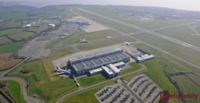 Cardiff Airport by helicopter