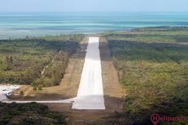South Bimini Airport by helicopter