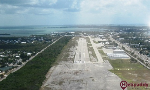 Florida Keys Marathon Airport by helicopter