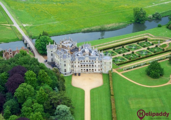 Longford Castle by helicopter
