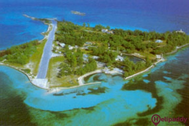 Little Whale Cay by helicopter