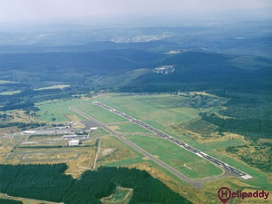 Siegerland Airport by helicopter