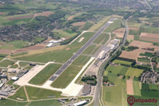Maastricht Aachen airport by helicopter