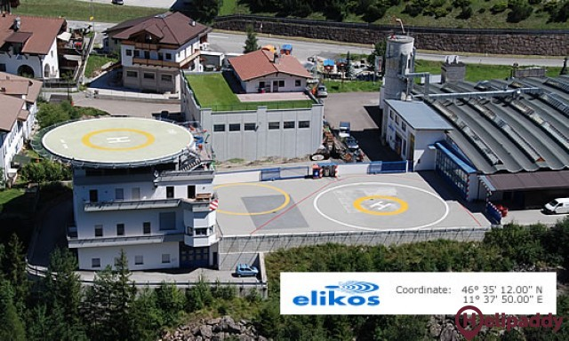 Elikos Heliport by helicopter