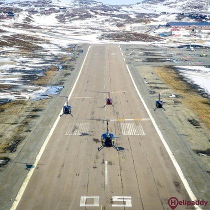 Hammerfest by helicopter