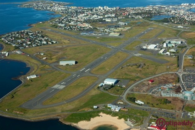 Reykjavík Airport by helicopter