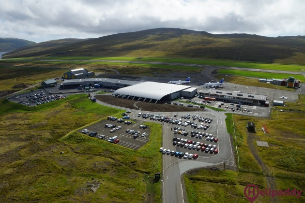 Vagar Airport by helicopter