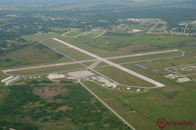 Okeechobee County Airport by helicopter