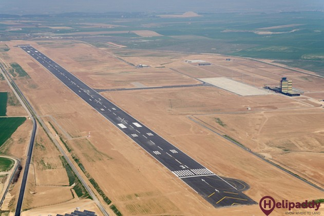 Lleida Airport by helicopter