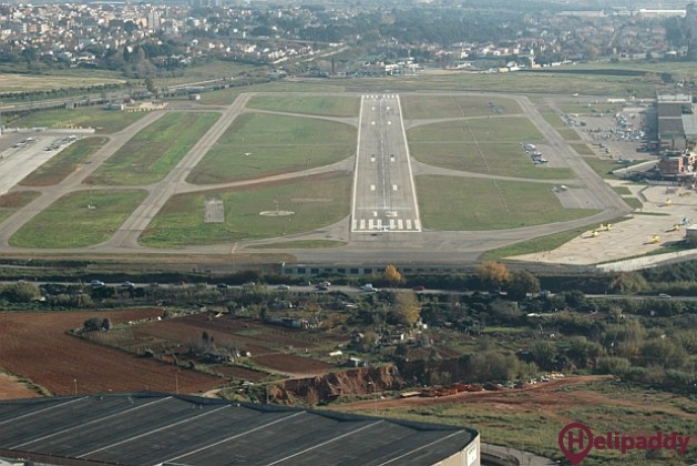 Sabadell Airport by helicopter