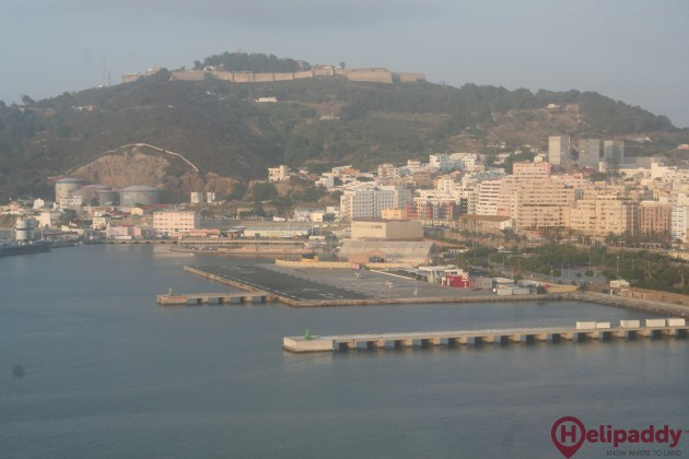 Ceuta Heliport by helicopter