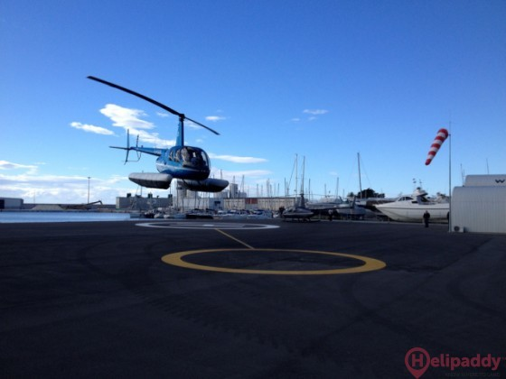 Tropicopter Heliport. Motril by helicopter