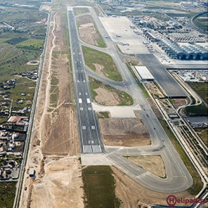 Alicante Airport  by helicopter