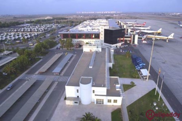 Almeria Airport by helicopter