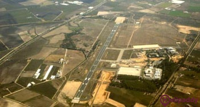 Jerez Airport by helicopter