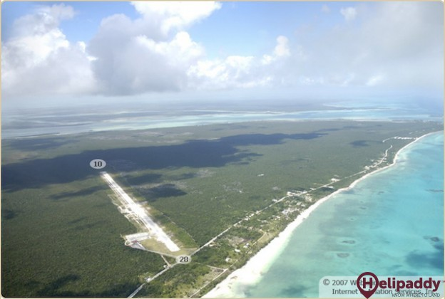 South Andros Airport by helicopter