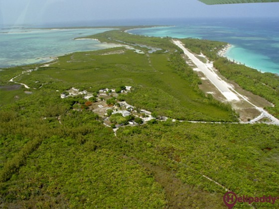 Big Whale Cay Airport by helicopter