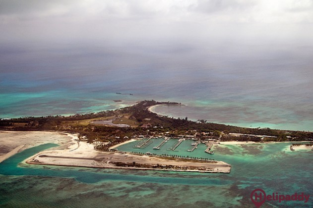 Cat Cay Airport by helicopter