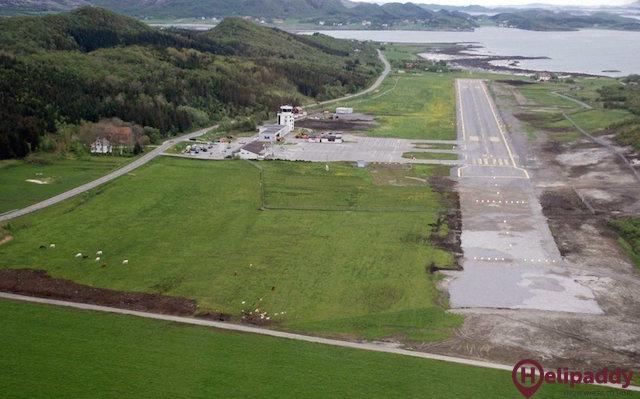 Sandnessjøen/Stokka by helicopter