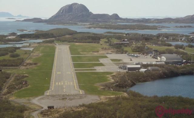 Bronnoysund lufthavn, Bronnoy by helicopter