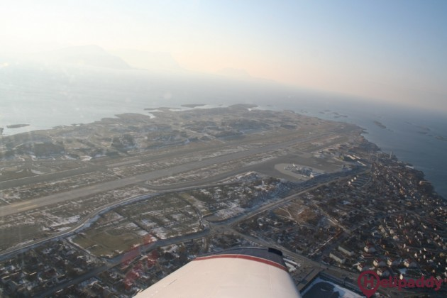 Bodø Airport by helicopter