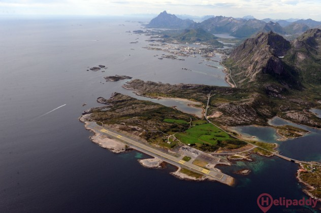 Svolvaer by helicopter