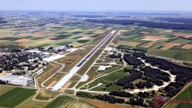 Memmingen Airport  by helicopter