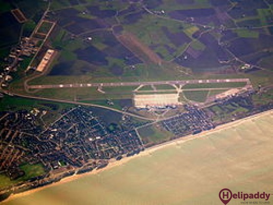 Ostend-Bruges International Airport by helicopter