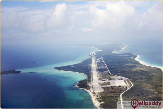 Governor's Harbour Airport by helicopter