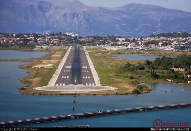 Corfu Ioannis Kapodistrias by helicopter