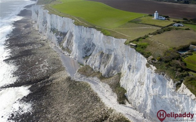 White Cliffs of Dover by helicopter