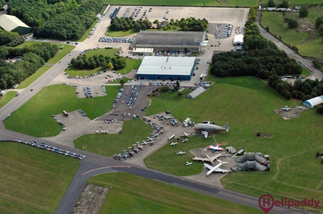 Bruntingthorpe Airfield by helicopter