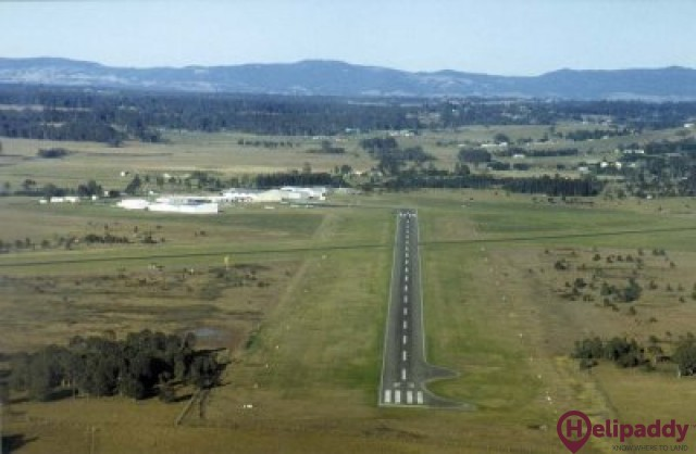 Maitland Airfield by helicopter