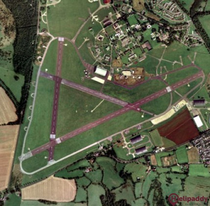 Colerne Airfield by helicopter