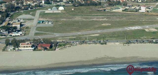 Aerodromo del Pinar by helicopter
