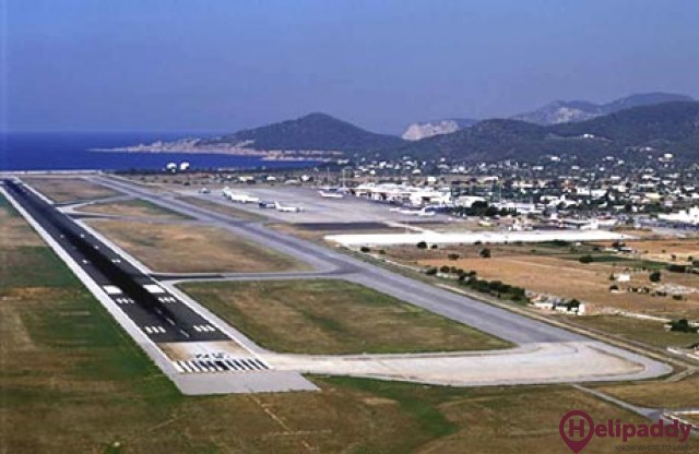 Ibiza Airport by helicopter