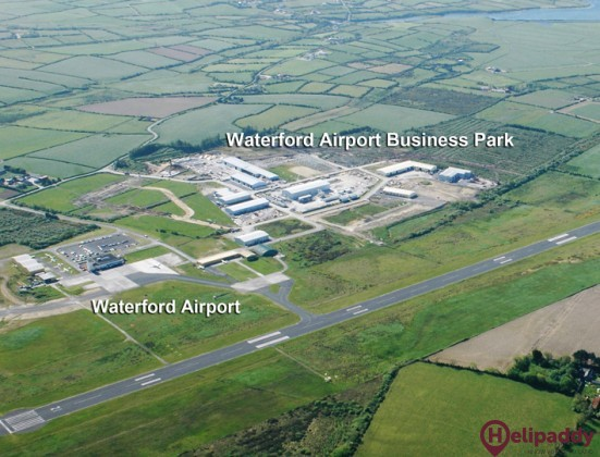 Waterford airport by helicopter