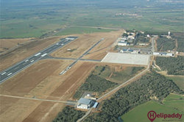 Huesca Airport by helicopter
