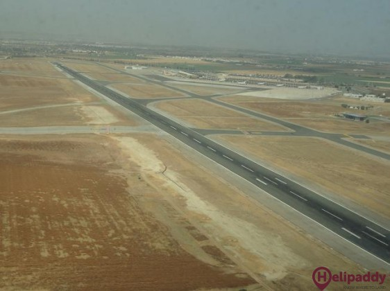 Seville Airport by helicopter